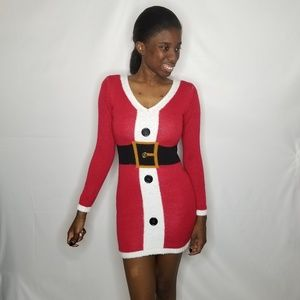 No Boundaries Mrs. Claus Mini Dress
